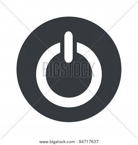Monochrome round power icon