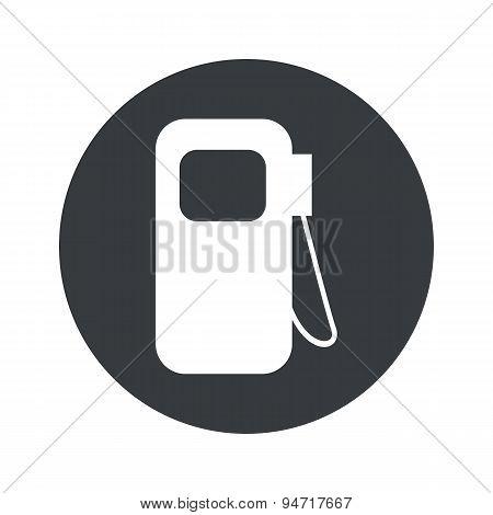 Monochrome round gas station icon