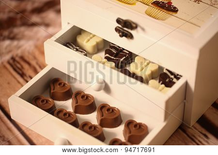 Mini Chocolate Sweets In A Box