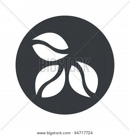 Monochrome round coffee icon
