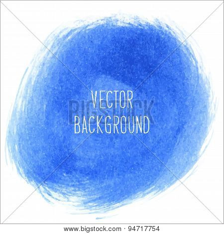 Blue coloured paint background - Vector Illustration.
