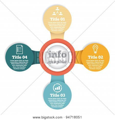 Business circle info graphic, diagram, presentation in steps