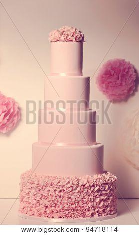 Pink Marzipan Cake