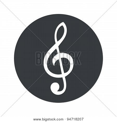 Monochrome round music icon
