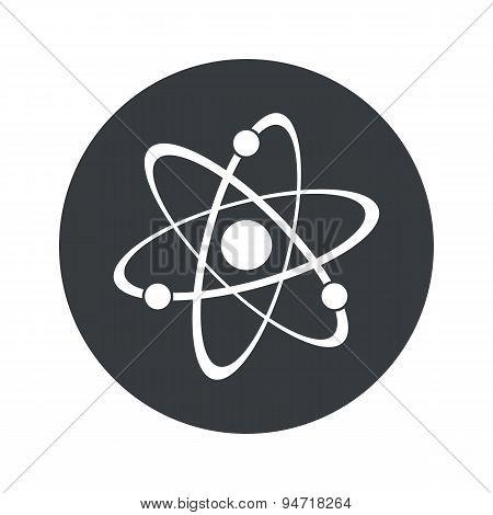 Monochrome round atom icon