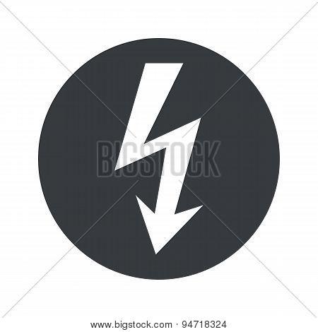 Monochrome round voltage icon