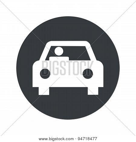 Monochrome round car icon