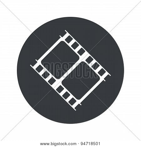 Monochrome round movie icon