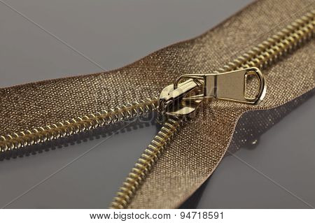 Golden Brown Zipper