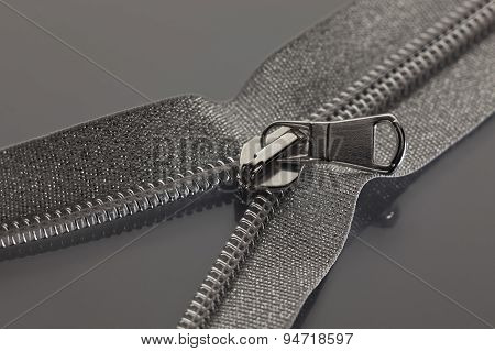 Gray Zipper