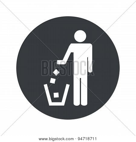 Monochrome round recycling icon