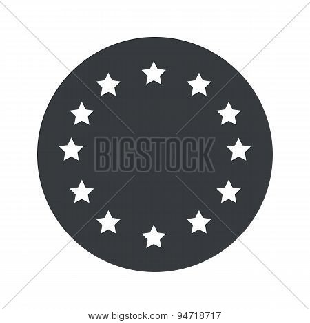 Monochrome round European Union icon