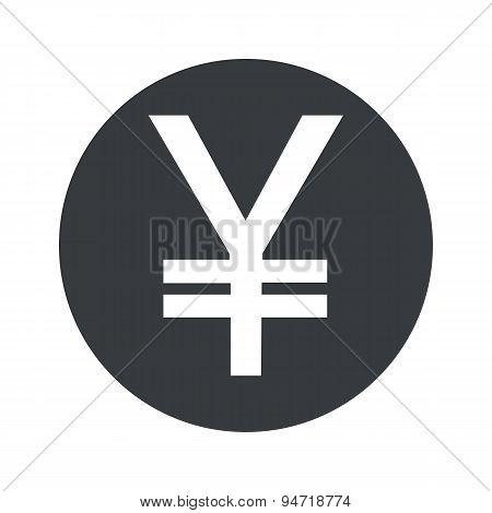Monochrome round yen icon