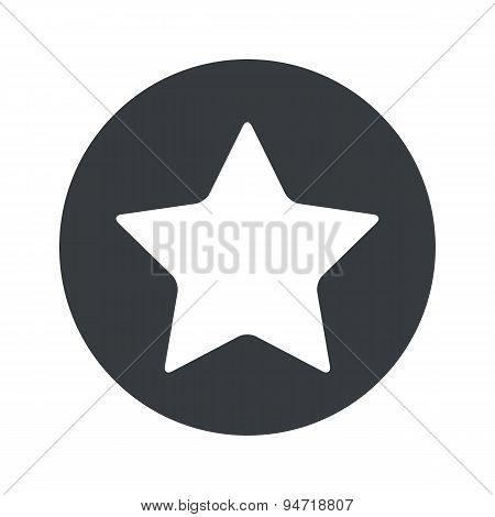 Monochrome round star icon