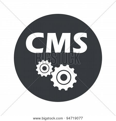 Monochrome round CMS settings icon