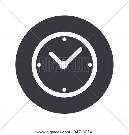 Monochrome round clock icon