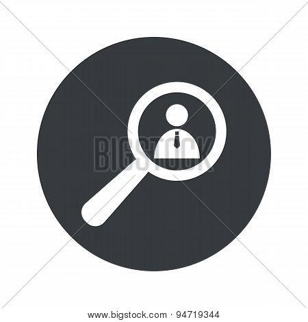 Monochrome round user details icon