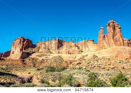 Rock Formation Three Gossips