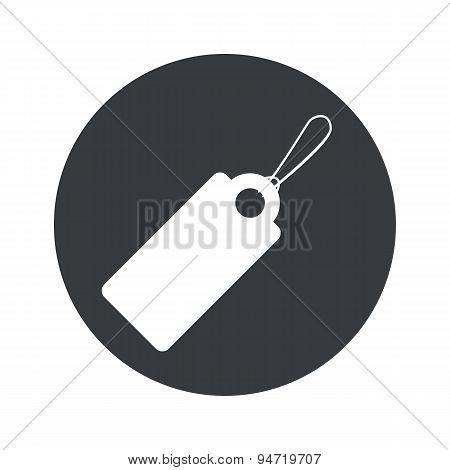 Monochrome round string tag icon