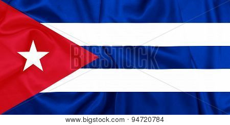 Cuba - Waving flag with silk texture