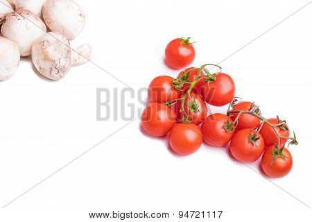 Champignon And Charry Tomatoes