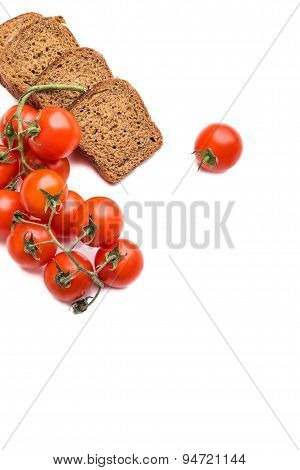 Fresh Bread With Cherry Tomatoes