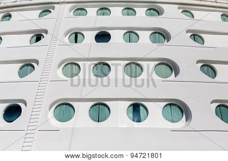 Curtains Over Ship Portholes