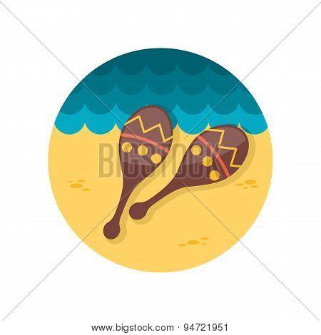 Maracas Flat Icon