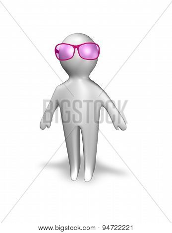 Optimist, Positive Thinking Person Concept Illustration
