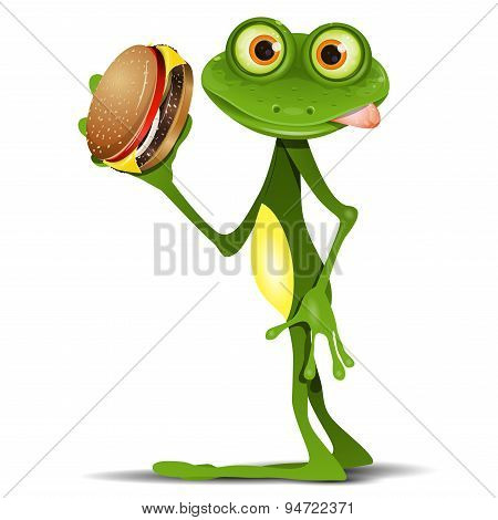 Frog And Cheeseburger