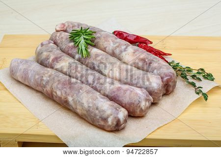 Handmade Sausages For Grill