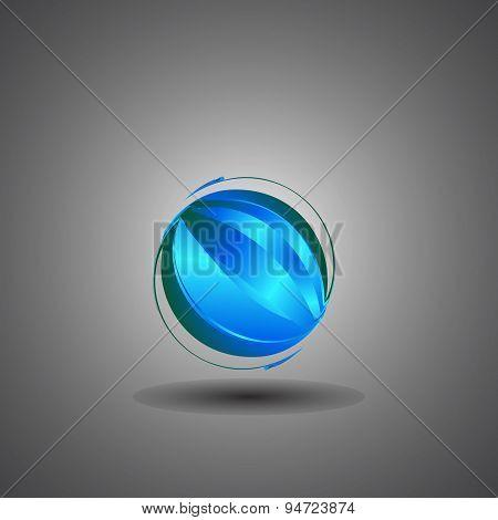 Techno Globe,internet, Technology World Logo