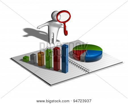 Financial Business Research Concept Illustration Isolated
