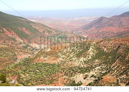 The Dades Valley In Atlas Africa Ground And Red