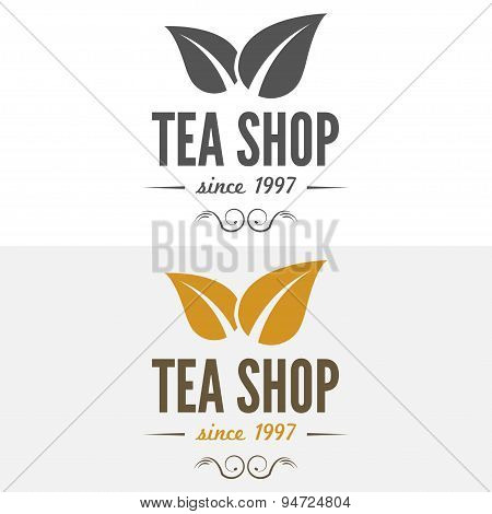 Set of vintage labels, emblems, and logo templates for coffee, tea shop, cafe, cafeteria, bar or res