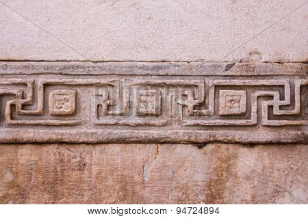 Greek Pattern Of Meander Type Or Greek Key