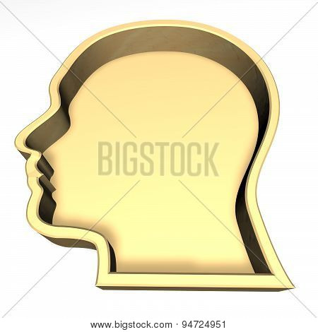 Human Face, 3D Abstract Silhouette