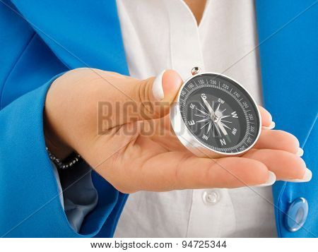 Businesswoman With Compass