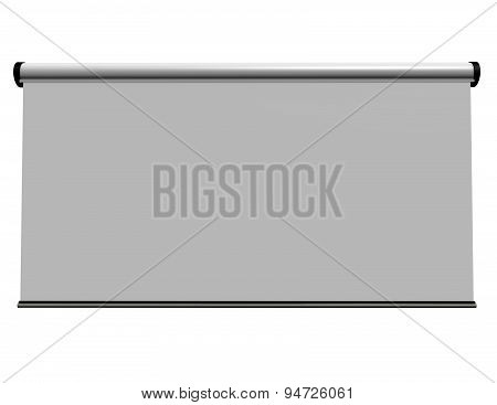 Blank Map Board With Copy Space Isolated