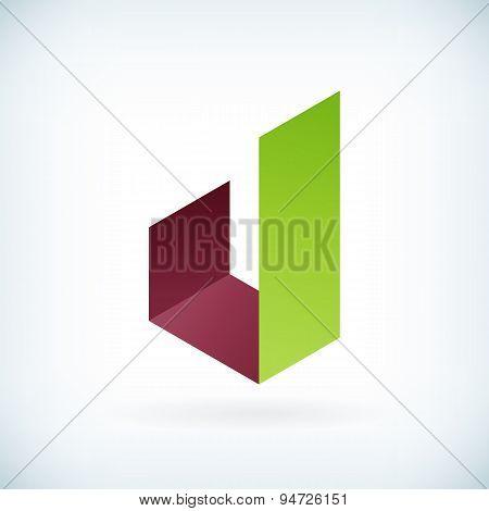 Modern Letter J Icon Flat Design Element Template