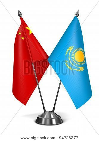China and Kazakhstan - Miniature Flags.