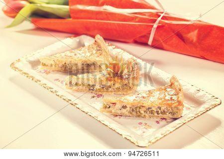 Slice Of Peas Cake