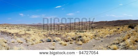 Dry Namib Desert In Sunset, Landscape