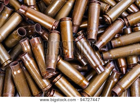 texture of spent cartridges Kalashnikov