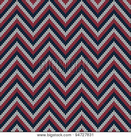 Knitting Usa Colors Pattern Sweater Battlement