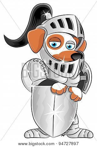 Dog in knight's armor