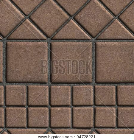 Brown Paving Slabs of the Figures Different Geometrical Shape.