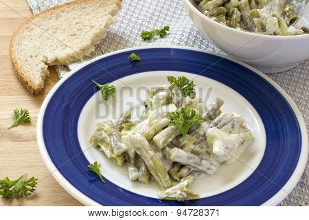 Salad Of Green Beans With Sour Cream Dressing