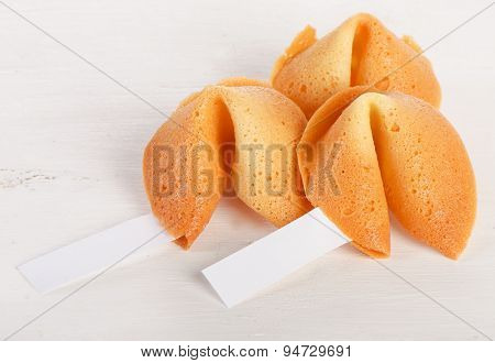 Fortune Cookies  On A White Background.