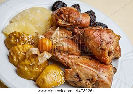 Pineaple And Chicken Dish